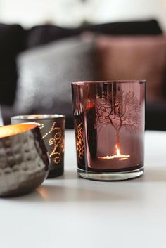 candle light copper from Broste Copenhagen