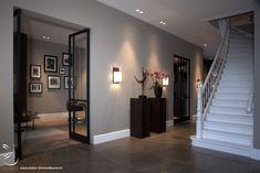 The FritsJurgens pivot door hinge makes a frameless door possible. Decor Interior Design, Interior Decorating, Pivot Doors, Contemporary Decor, Decoration, Living Room Decor, Sweet Home, New Homes, House Design