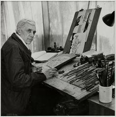 André Ostier photographe : Georges Braque, portrait de 1947