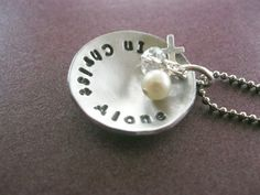 In Christ Alone Christian Necklace by gracetags on Etsy, $26.00