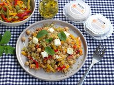 Fried Rice, Fries, Vegan Recipes, Veggies, Ethnic Recipes, Index, Food, Grilled Bell Peppers, Quinoa Salad