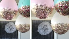 Balloon Hacks Balloon Hacks,come to my party Awesome DIY glitter dipped balloons. Pretty party decoration for a birthday party, bridal shower, or baby shower. Fun DIY project you can do at home! Sleepover Party, Slumber Parties, Party Party, Ideas Party, Adult Slumber Party, Décor Ideas, Fairy Party Ideas, Slumber Party Ideas, Adult Party Ideas