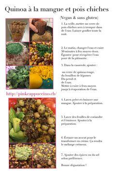 Recette de quinoa à la mangue et aux pois chiches Sans Gluten, Vegan, Quinoa Recipe, Mango