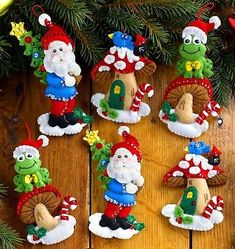 Nordic Tree Christmas Advent Calendar - Felt Applique Kit from Bucilla. Gnome Ornaments, Felt Christmas Ornaments, Christmas Crafts, Christmas Decorations, Holiday Decor, Christmas Gnome, Christmas Trees, Christmas Stocking Kits, Santa Stocking