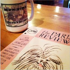 My Prufrock mug filled with The Big Dripper and the summer issue of The Paris Review make for a fantastic morning.