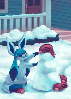 Eevee House - Glaceon by Pombei on DeviantArt