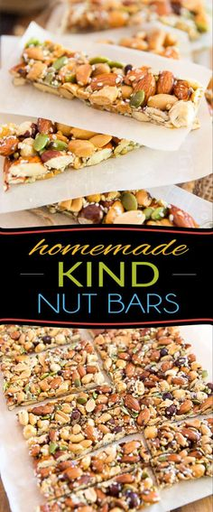 Kind Nut Bars - KIND Nut Bars are such a delicious snack but can be a tad on the pricey side. Learn how to easily m -Homemade Kind Nut Bars - KIND Nut Bars are such a delicious snack but can be a tad on the pricey side. Learn how to easily m - Healthy Granola Bars, Keto Granola, Healthy Bars, Healthy Snacks, Healthy Recipes, Diet Snacks, Protein Snacks, Protein Bars, Yummy Snacks