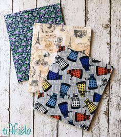 Fabric Covered School Folders and Craft Lightning Blog Hop | Tikkido.com