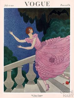 July Vogue 1921. I love these old covers! I wonder what the story is behind this picture. #sassyboomergirls