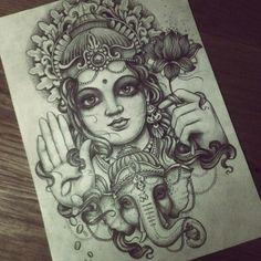 Halo Reach, Om Tattoo Design, Tattoo Designs, Hindus, Ganesha, Unique Tattoos, Small Tattoos, Kali Tattoo, Throat Tattoo