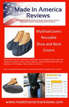 MyShoeCovers are premium washable and reusable shoe covers designed for indoor use by home owners, service technicians and contractors of all trades. American Manufacturing, Made In America, Shoe Boots, Shoes, Cover Design, Indoor, Check, Interior, Shoe