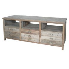"Betty TV Console   Reclaimed Pine  68"" W x 20"" D x 26"" H  Finish/Color(s): Bleached Pine"