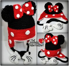 Disney Minnie Mouse Character Red Polka by HandcraftHaberdasher, $40.00
