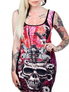 Women's Dresses - Punk, Indie & Tattoo Dresses | Inked Shop #inkedshop #skull #dress #graphicdress #art #bug #wings #fashion