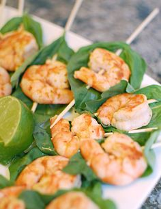 Red Curry Shrimp Skewers #partyfoods #shrimp #appetizers