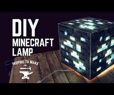 DIY Minecraft Lamp: In this instructable, I'm gonna show you how to build your very own Real Life Diamond Ore lamp! A friend of mine is a professional Minecraft Player. So I've decided to make this one for his birthday. Minecraft Lampe, Minecraft Crafts, Resin Patio Furniture, Furniture Nyc, Painting Furniture, Furniture Stores, Furniture Ideas, Diy Lampe, Home Decor