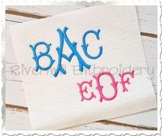 $3.95Victorian Monogram Machine Embroidery Font Alphabet