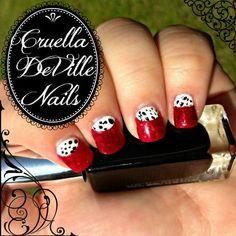 Paint Cruella DeVille Inspired Nail Art