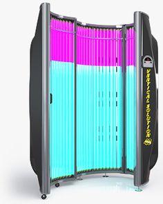 XS POWER VERTICAL SOLUTION 48 TANNING BED - Description: 10 Min Tan Time  7680 Watt