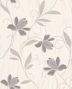 Chicago Floral Grey wallpaper by Albany