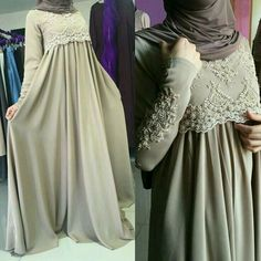 Abaya Fashion, Women's Fashion Dresses, Modest Dresses, Maternity Dresses, Parda, Moslem Fashion, Hijab Style Dress, Dress Brokat, Modele Hijab