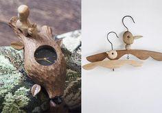 love the creative wood hangers