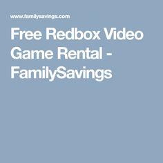 8fe3d5f5f4 Free Redbox Video Game Rental - FamilySavings Video Game Rental
