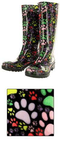 Repin if you support animal rescue! Paws Galore Rain Boots now $25.00. Purchase funds 28 bowls of food!