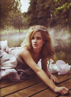 beautiful photograph, love the light, setting and styling. oh and emma watson is beautiful(: