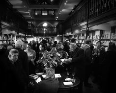 At the launch in Daunt Books