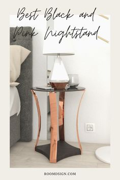 Take a look at our favorite black and pink nightstand that can bring an elegant and sweet looks to your bedroom. Pink Nightstands, Pink Furniture, Cool Furniture, Rose Gold Bedroom Accessories, Best Black, Beautiful Bedrooms, Decorative Items, Bedroom Decor