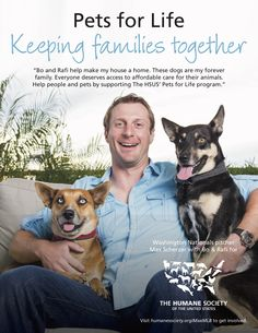 Washington Nationals pitcher Max Scherzer teams up with The HSUS to encourage fans to get involved with their Pets for Life program. Millions of people in the U.S. live in poverty with their pets and to respond effectively to this, the HSUS Pets for Life program is reaching out to people who have the least access to animal services.