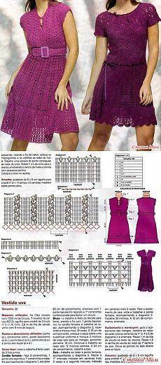 2 платья крючком - Кладовая схемок(Вязаечка) - Страна Мам