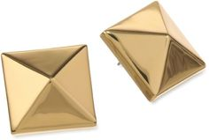 Amazon.com: Vince Camuto Gold Oversized Pyramid Stud Earrings: Jewelry