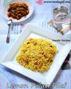 I was running out of time to make lunch before hubby came home. I looked into my pantry and refrigerator couple of times trying to come up with something. That's when I saw a lemon and immedi… Kerala Recipes, Indian Food Recipes, Ethnic Recipes, Lemon Rice, Kerala Food, Biryani Recipe, Indian Kitchen, Refrigerator, Macaroni And Cheese