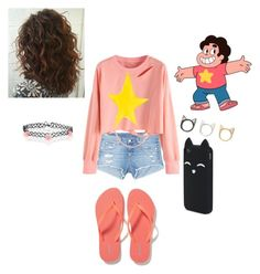 """""""Gender Bend Steven Universe"""" by blueisthenewgrey ❤ liked on Polyvore featuring rag & bone/JEAN, Alexis Bittar, Old Navy, claire's, Aéropostale and Accessorize"""