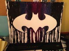 Batman Crayon Art: Melting - YouTube