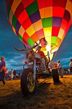 """Hot Air Harley Davidson :)) "" by Gleb Tarro, via 500px."