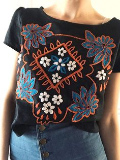 Hand Embroidered Top | Tessa Perlow on Etsy