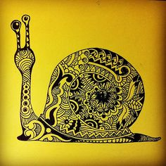 Pretty, But slowly, slowly! #snail #zentangles