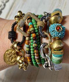 Beaded Jewelry, Beaded Bracelets, Necklaces, Custom Jewelry, Handmade Jewelry, Layered Bracelets, Contemporary Jewellery, Bracelet Designs, Fashion Bracelets