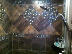 Beautiful shower designed, sold and installed by Gilbert's CarpetsPlus COLORTILE in Big Rapids, MI. www.gilbertscarpetsplus.com Big Rapids, Custom Shower, Carpet Tiles, Color Tile, Bathroom Designs, Amazing Bathrooms, Corner Bathtub, Shower Ideas, Beautiful