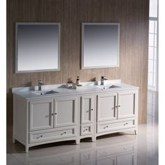 Size Double Vanities Bathroom Vanities : Add style and functionality to your bathroom with a bathroom vanity. Choose from a wide selection of great styles and finishes. Free Shipping on orders over $45!