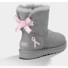 UGG Mini Bailey Bow - Breast Cancer Limited Edition Women's Seal