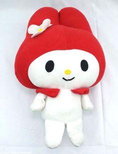 "Hello Kitty My Melody Sanrio Fiesta Red Hat Plush Doll Stuffed Animal 14"" EUC #Sanrio #Fiesta #Mymelody #HelloKitty #plush #stuffedanimal"