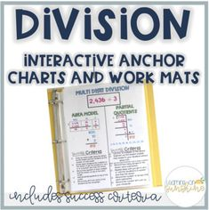 Partial Quotients Division Strategies Anchor Chart and Work Mat Multiplication Anchor Charts, Multi Digit Multiplication, Division Strategies, Math Division, Elementary Math, Upper Elementary, Partial Quotient Division, Partial Quotients, Student Numbers