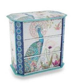 Peacock Flower Garden Jewelry Trinket Box  $19.95  www.allthingspeacock.com