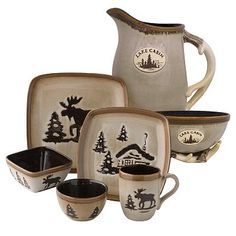I love my Moose Dish Set! I only have a plate, bowl and cup. I want the whole set tho!!! I wish it weren't do expensive