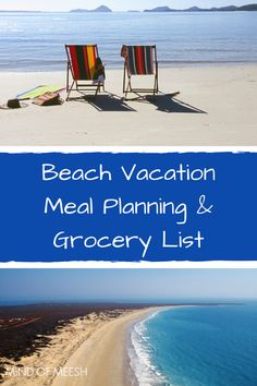 Beach Vacation Meal Planning