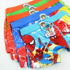 4pcs boys kids boxer shorts spiderman boxers briefs #cotton #pants #underwear 3-1,  View more on the LINK: 	http://www.zeppy.io/product/gb/2/152137265156/